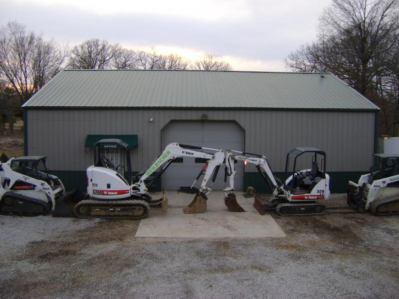 bobcat skid steer, mini excavators, weilbacher landscaping, millstadt il