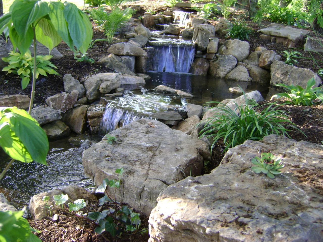 Weilbacher landscaping retaining walls paver for Ponds and waterfalls