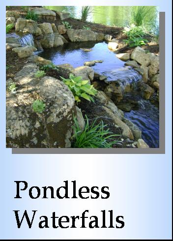 Pondless Waterfalls, Water Features, Landscape Installation, Millstadt IL