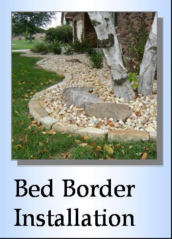 Flower bed installation, bed borders, frontscapes, Columbia, IL