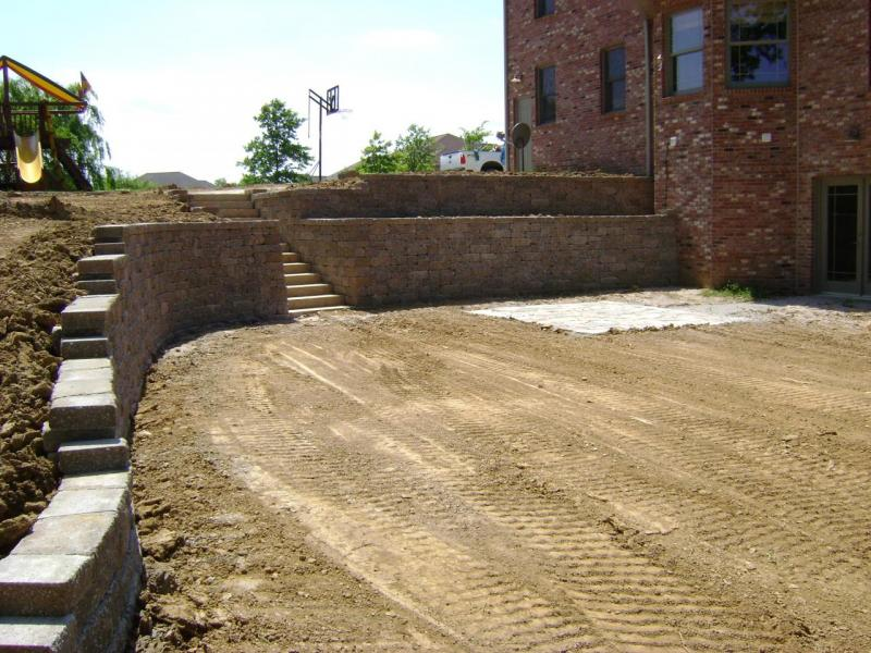 retaining wall versalok installation