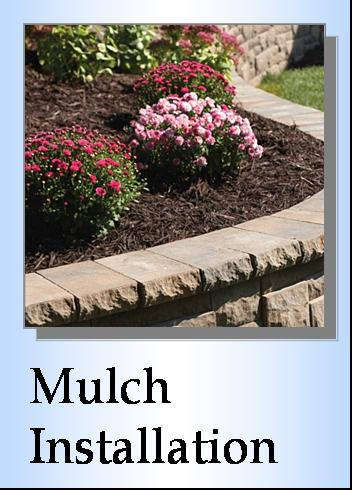 Mulch Installation, hardwood mulch, dyed mulch, decorative rock installation